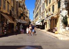 Старый городок городка Корфу, Греции Стоковое Изображение