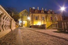 Старый городок Люблина на ноче Стоковое Изображение RF