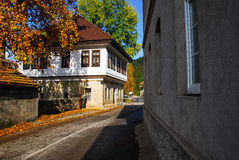 старый городок дороги Стоковое фото RF