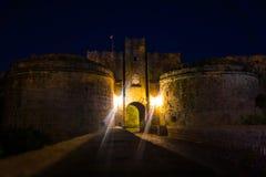 Старый городок Родос Стоковое Изображение RF