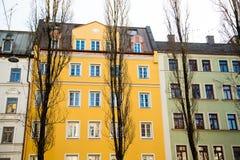 Старый городок, старый дом здания в городе Мюнхена, Стоковые Изображения