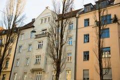 Старый городок, старый дом здания в городе Мюнхена, Стоковые Изображения RF