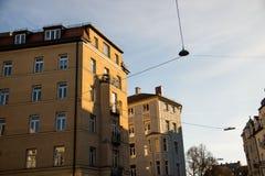 Старый городок, старый дом здания в городе Мюнхена, Стоковое Изображение