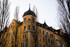 Старый городок, старый дом здания в городе Мюнхена, Стоковое Изображение RF