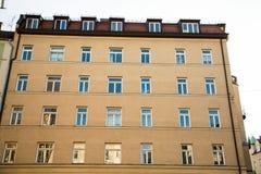 Старый городок, старый дом здания в городе Мюнхена, Sendling Стоковое Изображение RF