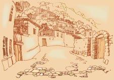 старый городок улицы Стоковые Изображения