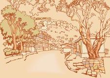 старый городок улицы Стоковое Фото