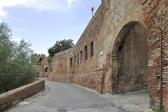 Старый городок Certaldo Стоковые Изображения