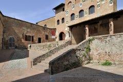 Старый городок Certaldo Стоковая Фотография RF