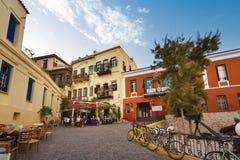 Старый городок Chania, Греции Стоковая Фотография
