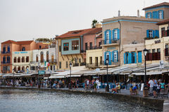 Старый городок Chania, Греции Стоковые Изображения RF