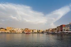 Старый городок Chania, Греции Стоковая Фотография RF