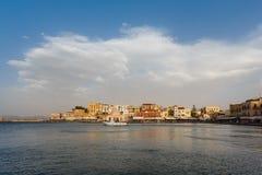 Старый городок Chania, Греции Стоковые Фотографии RF