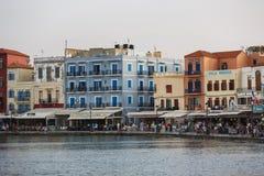 Старый городок Chania, Греции Стоковое Фото