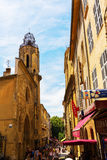 Старый городок en Провансали AIX, Франции Стоковые Фото