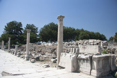Старый городок Ephesus. Турция Стоковые Фотографии RF