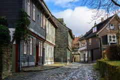 Старый городок goslar, Германия Стоковая Фотография RF