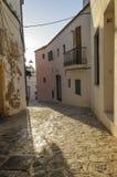 Старый городок Ibiza, Испания, Dalt Vila Стоковое Изображение RF