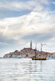Старый городок Istrian Rovinj или Rovigno в Хорватии Стоковые Изображения