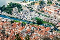 Старый городок Kotor, Черногория. Kotorska Boka. Стоковые Изображения RF