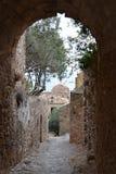 Старый городок Monemvasia Стоковые Изображения RF