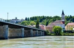 Старый городок passau Стоковое Изображение RF