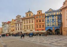старый городок prague квадратный стоковое изображение rf