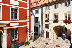 старый городок riga европа северная latvia Стоковое Изображение