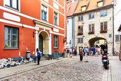 старый городок riga европа северная latvia Стоковое Изображение RF