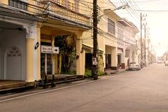 Старый городок Takuapa, Phang Nga, Таиланд Стоковые Изображения RF