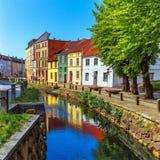 Старый городок Wismar, Германии Стоковое Изображение