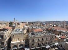 Старый город панорамы Иерусалима - северной Стоковая Фотография