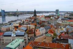 Старый город Риги, Латвия Стоковое Изображение RF