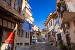 Старый город Ohrid рано утром Стоковое фото RF