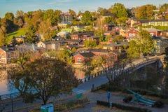 Старый город Porvoo, Финляндии Стоковая Фотография