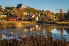 Старый город Porvoo, Финляндии стоковое изображение rf