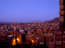 Старый город Sanaa - Йемен Стоковая Фотография RF