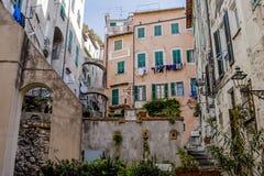 Старый город Sanremo вызвал ` Pigna Ла ` Стоковое фото RF