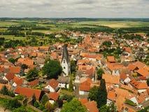 Старый город TraditionalGerman взгляд сверху красивые красные крыши стоковая фотография rf