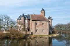 Старый голландский замок в свете раннего утра стоковая фотография rf