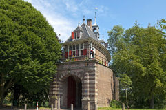 Старый голландский строб города Oosterpoort в Hoorn Стоковая Фотография RF