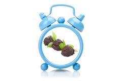 Старый голубой будильник Стоковые Фото