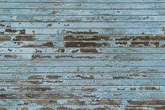 Старый голубой деревянный siding Стоковое Изображение