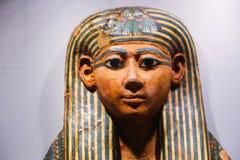 Старый гроб ферзя в музее бальзамировать на Луксоре, Египте Стоковая Фотография