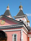 Старый деревянный висок bogorodskiy Стоковая Фотография