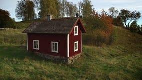 Старый деревянный дом в Швеции сток-видео