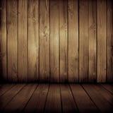 Старый деревянный интерьер Стоковые Фотографии RF