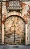 Старый деревянный портал стоковое фото rf