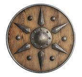 Старый деревянный экран ` Викингов изолировал иллюстрацию 3d иллюстрация вектора