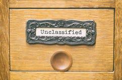 Старый деревянный ящик каталога архивных файлов, неклассифицированные файлы стоковое изображение